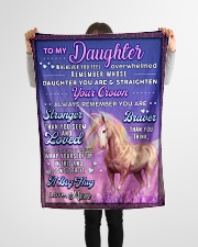 """BL10082 - To My Daughter Mom Letter Unicorn Small Fleece Blanket - 30"""" x 40"""" aos-coral-fleece-blanket-30x40-lifestyle-front-14"""