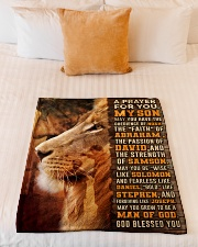 """JES10082BL - A Prayer For My Son Small Fleece Blanket - 30"""" x 40"""" aos-coral-fleece-blanket-30x40-lifestyle-front-04"""