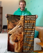 """JES10082BL - A Prayer For My Son Small Fleece Blanket - 30"""" x 40"""" aos-coral-fleece-blanket-30x40-lifestyle-front-09"""