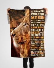 """JES10082BL - A Prayer For My Son Small Fleece Blanket - 30"""" x 40"""" aos-coral-fleece-blanket-30x40-lifestyle-front-14"""