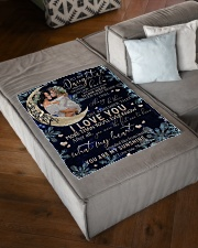 """FBC10001 - Daughter Love You To The Moon Small Fleece Blanket - 30"""" x 40"""" aos-coral-fleece-blanket-30x40-lifestyle-front-03"""
