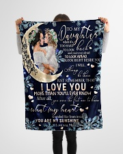 """FBC10001 - Daughter Love You To The Moon Small Fleece Blanket - 30"""" x 40"""" aos-coral-fleece-blanket-30x40-lifestyle-front-14"""