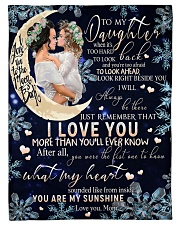 """FBC10001 - Daughter Love You To The Moon Small Fleece Blanket - 30"""" x 40"""" front"""