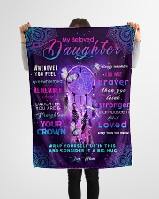 """BL10030 - Beloved Daughter Butterfly Night Small Fleece Blanket - 30"""" x 40"""" aos-coral-fleece-blanket-30x40-lifestyle-front-14"""