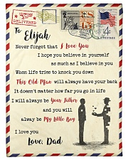 """FBL10013D - To Elijah Dad Letter Family Small Fleece Blanket - 30"""" x 40"""" front"""