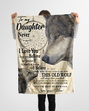 """FBC10011 - Wolf To My Daughter Small Fleece Blanket - 30"""" x 40"""" aos-coral-fleece-blanket-30x40-lifestyle-front-14"""