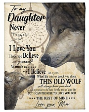 """FBC10011 - Wolf To My Daughter Small Fleece Blanket - 30"""" x 40"""" front"""