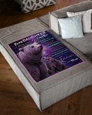 "FBC10023 - Daughter Bears Small Fleece Blanket - 30"" x 40"" aos-coral-fleece-blanket-30x40-lifestyle-front-03"