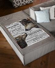 "FBC10047 - To My Amazing Grandson Wolfs Small Fleece Blanket - 30"" x 40"" aos-coral-fleece-blanket-30x40-lifestyle-front-03"