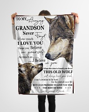 "FBC10047 - To My Amazing Grandson Wolfs Small Fleece Blanket - 30"" x 40"" aos-coral-fleece-blanket-30x40-lifestyle-front-14"