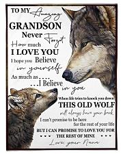 "FBC10047 - To My Amazing Grandson Wolfs Small Fleece Blanket - 30"" x 40"" front"