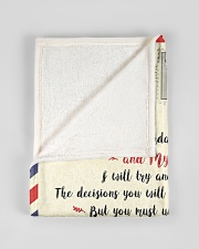 """FBL10072C To Joshua Mom Letter Family Small Fleece Blanket - 30"""" x 40"""" aos-coral-fleece-blanket-30x40-lifestyle-front-17"""