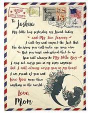 "FBL10072C To Joshua Mom Letter Family Small Fleece Blanket - 30"" x 40"" front"
