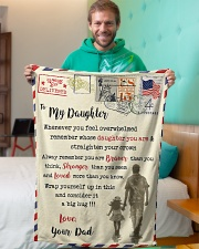 """FBL10083 - To My Daughter Dad Letter Family  Small Fleece Blanket - 30"""" x 40"""" aos-coral-fleece-blanket-30x40-lifestyle-front-09"""
