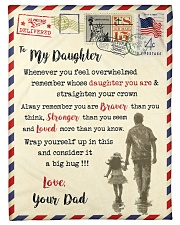 """FBL10083 - To My Daughter Dad Letter Family  Small Fleece Blanket - 30"""" x 40"""" front"""
