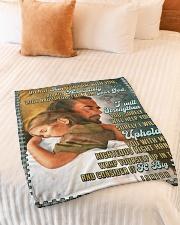 "JES10044BL - Jesus Christ  Small Fleece Blanket - 30"" x 40"" aos-coral-fleece-blanket-30x40-lifestyle-front-01"