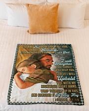 "JES10044BL - Jesus Christ  Small Fleece Blanket - 30"" x 40"" aos-coral-fleece-blanket-30x40-lifestyle-front-04"