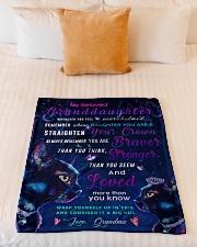 "BL10037 - Beloved Granddaughter Cat Night Small Fleece Blanket - 30"" x 40"" aos-coral-fleece-blanket-30x40-lifestyle-front-04"