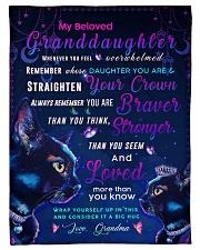 "BL10037 - Beloved Granddaughter Cat Night Small Fleece Blanket - 30"" x 40"" front"