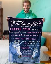 "BL10012 - Beloved Granddaughter Unicorn 1 Small Fleece Blanket - 30"" x 40"" aos-coral-fleece-blanket-30x40-lifestyle-front-09"