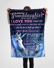 "BL10012 - Beloved Granddaughter Unicorn 1 Small Fleece Blanket - 30"" x 40"" aos-coral-fleece-blanket-30x40-lifestyle-front-14"