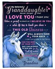 "BL10012 - Beloved Granddaughter Unicorn 1 Small Fleece Blanket - 30"" x 40"" front"