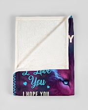"""BL10047 - To My Son Dad Letter Wolf Small Fleece Blanket - 30"""" x 40"""" aos-coral-fleece-blanket-30x40-lifestyle-front-17"""