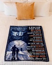 """JES10078BL - A Prayer For My Son Small Fleece Blanket - 30"""" x 40"""" aos-coral-fleece-blanket-30x40-lifestyle-front-04"""