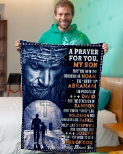 """JES10078BL - A Prayer For My Son Small Fleece Blanket - 30"""" x 40"""" aos-coral-fleece-blanket-30x40-lifestyle-front-09"""