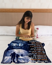 """JES10078BL - A Prayer For My Son Small Fleece Blanket - 30"""" x 40"""" aos-coral-fleece-blanket-30x40-lifestyle-front-12"""