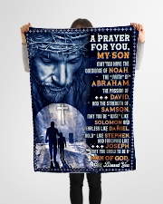 """JES10078BL - A Prayer For My Son Small Fleece Blanket - 30"""" x 40"""" aos-coral-fleece-blanket-30x40-lifestyle-front-14"""