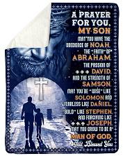 JES10078BL - A Prayer For My Son Sherpa Fleece Blanket tile