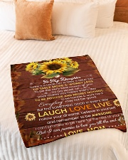 """FAM10119BL - To My Daughter Laugh Love Live Small Fleece Blanket - 30"""" x 40"""" aos-coral-fleece-blanket-30x40-lifestyle-front-01"""