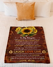 """FAM10119BL - To My Daughter Laugh Love Live Small Fleece Blanket - 30"""" x 40"""" aos-coral-fleece-blanket-30x40-lifestyle-front-04"""