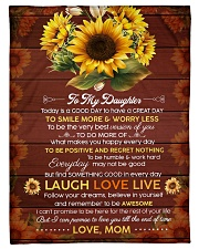 """FAM10119BL - To My Daughter Laugh Love Live Small Fleece Blanket - 30"""" x 40"""" front"""