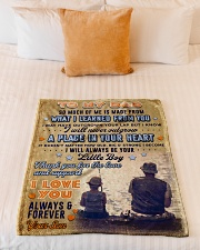 """BL10095 - To My Dad Fishing Love Son Small Fleece Blanket - 30"""" x 40"""" aos-coral-fleece-blanket-30x40-lifestyle-front-04"""