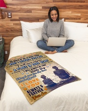 """BL10095 - To My Dad Fishing Love Son Small Fleece Blanket - 30"""" x 40"""" aos-coral-fleece-blanket-30x40-lifestyle-front-08"""