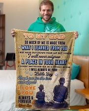 """BL10095 - To My Dad Fishing Love Son Small Fleece Blanket - 30"""" x 40"""" aos-coral-fleece-blanket-30x40-lifestyle-front-09"""