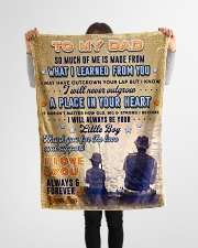 """BL10095 - To My Dad Fishing Love Son Small Fleece Blanket - 30"""" x 40"""" aos-coral-fleece-blanket-30x40-lifestyle-front-14"""
