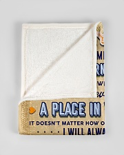 """BL10095 - To My Dad Fishing Love Son Small Fleece Blanket - 30"""" x 40"""" aos-coral-fleece-blanket-30x40-lifestyle-front-17"""