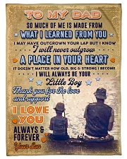 """BL10095 - To My Dad Fishing Love Son Small Fleece Blanket - 30"""" x 40"""" front"""