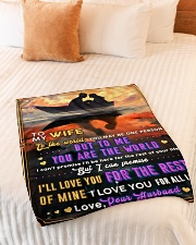 """BL10093 - To My Wife You Are The World Small Fleece Blanket - 30"""" x 40"""" aos-coral-fleece-blanket-30x40-lifestyle-front-01"""