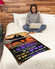 """BL10093 - To My Wife You Are The World Small Fleece Blanket - 30"""" x 40"""" aos-coral-fleece-blanket-30x40-lifestyle-front-08"""