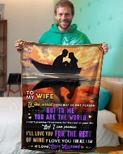 """BL10093 - To My Wife You Are The World Small Fleece Blanket - 30"""" x 40"""" aos-coral-fleece-blanket-30x40-lifestyle-front-09"""