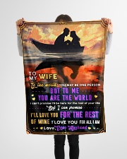 """BL10093 - To My Wife You Are The World Small Fleece Blanket - 30"""" x 40"""" aos-coral-fleece-blanket-30x40-lifestyle-front-14"""