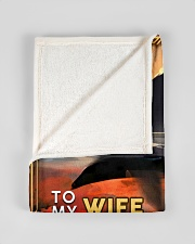"""BL10093 - To My Wife You Are The World Small Fleece Blanket - 30"""" x 40"""" aos-coral-fleece-blanket-30x40-lifestyle-front-17"""