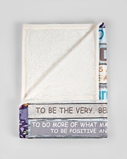 """FBC10029 - Son Today Is A Good Day Small Fleece Blanket - 30"""" x 40"""" aos-coral-fleece-blanket-30x40-lifestyle-front-17"""