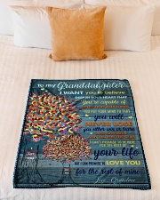 """BL10025 - My Granddaughter I Want You To Believe Small Fleece Blanket - 30"""" x 40"""" aos-coral-fleece-blanket-30x40-lifestyle-front-04"""
