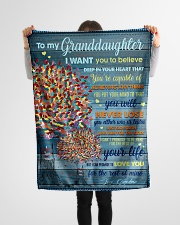 """BL10025 - My Granddaughter I Want You To Believe Small Fleece Blanket - 30"""" x 40"""" aos-coral-fleece-blanket-30x40-lifestyle-front-14"""