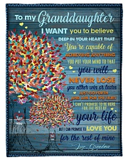 """BL10025 - My Granddaughter I Want You To Believe Small Fleece Blanket - 30"""" x 40"""" front"""